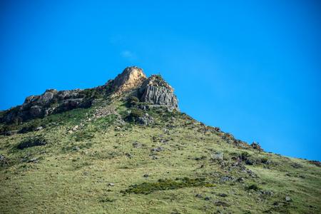Alta montagna con il cielo limpido Archivio Fotografico - 35066587
