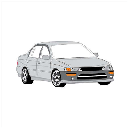 Classic Old Car 90 Generation Illustration