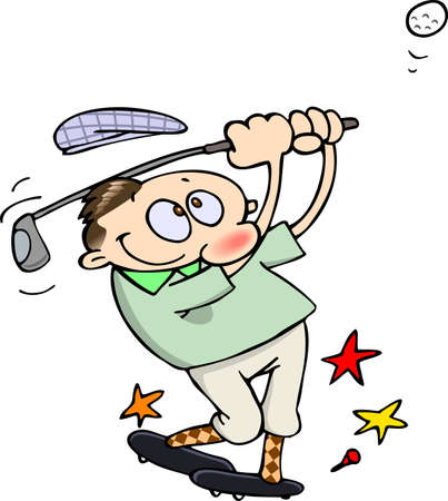 golfer hitting a golf ball