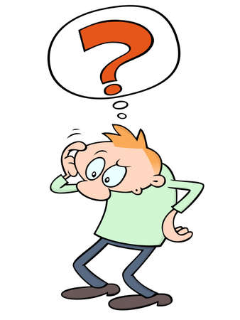 Confused cartoon guy scratching his head Stock Vector - 9926108