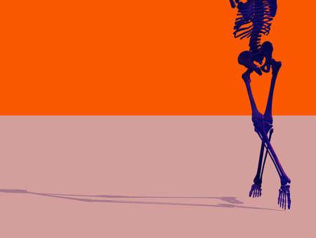 少し奇妙な設定で踊る骸骨 写真素材 - 1215380