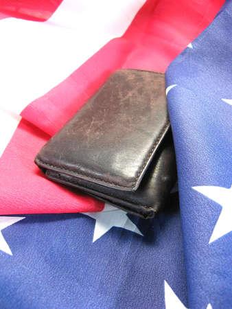 アメリカの国旗現金 finiancial 興味を持つ愛国主義のリンク