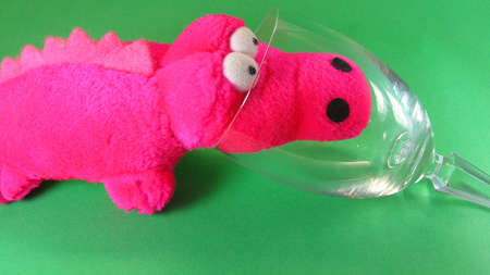 shocking: shocking pink small soft toy friendly crocodile
