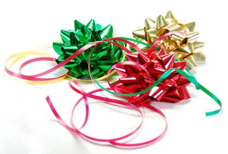 お祝いリボン、弓、休日や誕生日の贈り物を包む