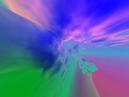 colorful abstract background indicating speed and movement with clouds