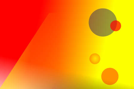 Yellow orange abstract with circles background