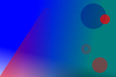 Blue abstract with circles and diagonal line background