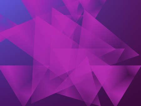 パープル卒業の青と紫の背景に三角形を重ねてください。