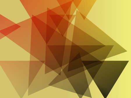 透明無地のパステル カラーの背景上に三角形を重ねて表示