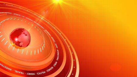 Graphical News Red-Orange Digital Background