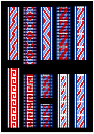 Patterns for bead bracelet. Excellent patterns for your great design.