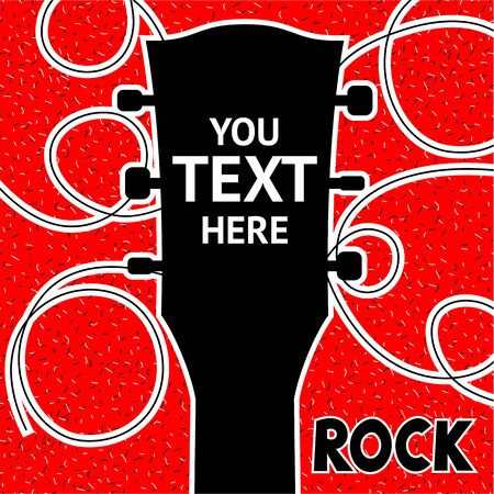 Design of posters rock festival. You can write your text. Vector Illustration Çizim