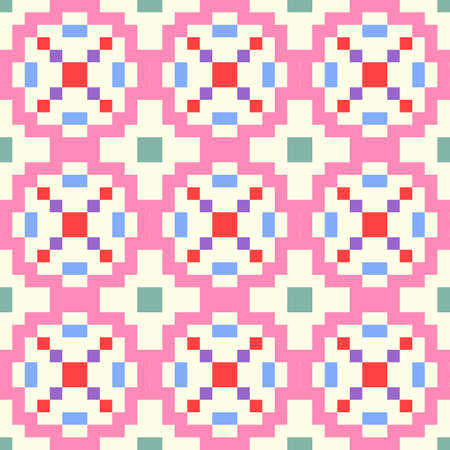 Abstract of seamless geometric patterns. Ilustracja