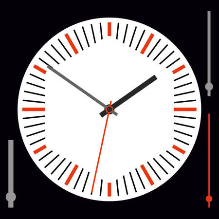 Vintage watch dial with arrows. Vector illustration