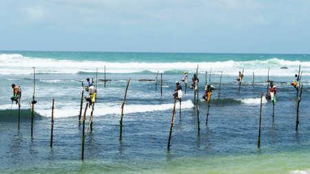 Fishermen in Sri Lanka Фото со стока