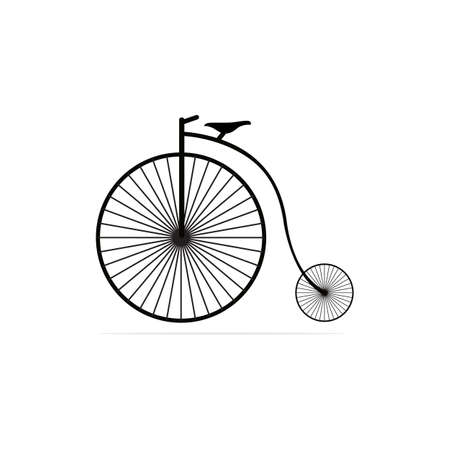 Antique bicycle Icon. Vector concept illustration for design. Illustration