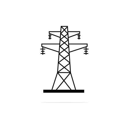 high voltage pole Icon. Vector concept illustration for design.