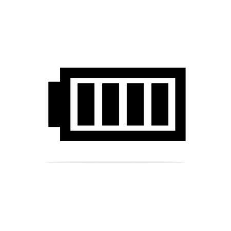 Full Battery charging Icon. Vector concept illustration for design.