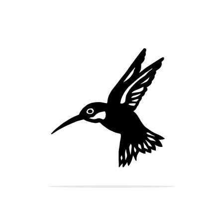 Hummingbirds Icon. Vector concept illustration for design. Ilustracja