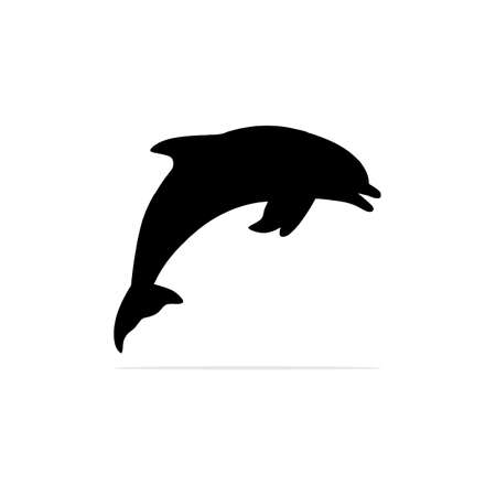 Dolphin Icon. Vector concept illustration for design. Illustration