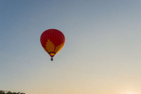 hotair: Colorful hot-air balloons flying over the sky