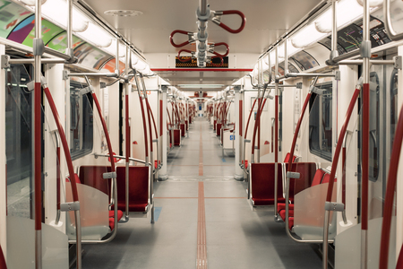 toronto underground subway carriage perspective