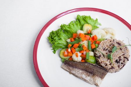 healthy dietary food isolated;