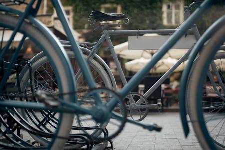 old fashioned retro bike in cozy place; 写真素材