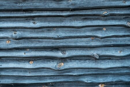 vintage old blue wooden fence with scratched and dirty texture Standard-Bild - 134779615