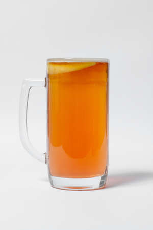 craft and colored beer set in mugs isolated Standard-Bild