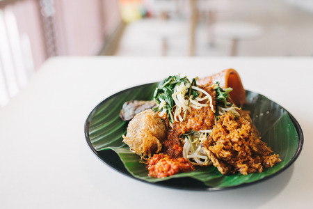 Plate of nasi dagang Stock Photo - 80362241