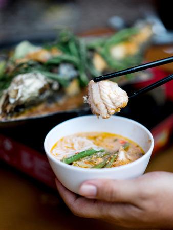 Cambodjaanse gestoomde vis