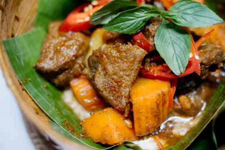 Cambodjaanse vleesgerecht Stockfoto