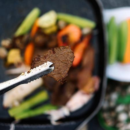 Pan gegrild vlees