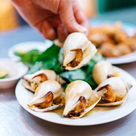 Vietnamese snail dish Stock Photo