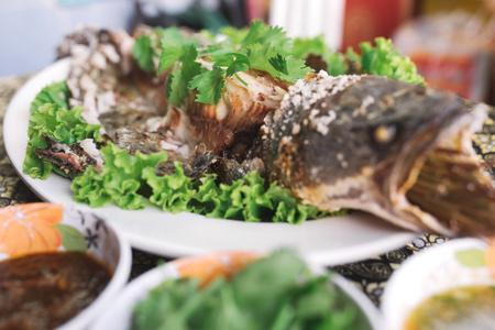Gebakken Snakehead Fish