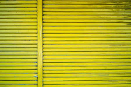 lemon yellow shutter door for background.