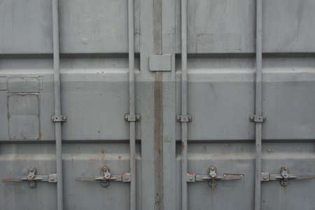cargo container: Cargo Container Closed Doors Front view