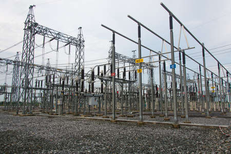 transformator: High voltage sub station for tranfrom electricity