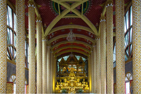gloden: The gloden image of Buddha in Wat Phra That Nong Bua, Ubonratchathani Thailand