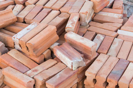 orenge: Stow of brick prepare for construction