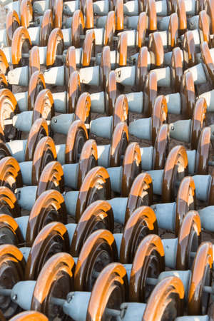 amperage: High voltage electrical insulator prepare for installation Stock Photo