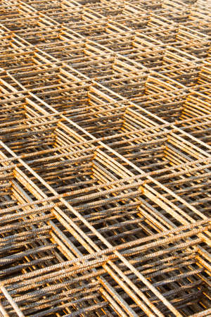 wire mesh: Steel wire mesh at  construction site