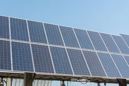 solar farm: Solar panel in solar farm