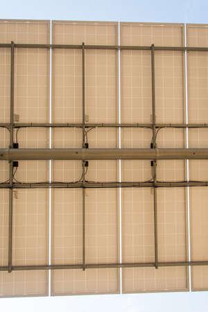 solar farm: Under solar panel in solar farm