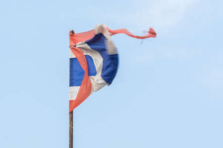 Thailand flag with blue sky background