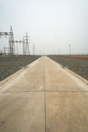 substation: Reinforcement concrete road in substation
