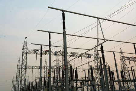 sub station: High voltage sub station for tranfrom electricity