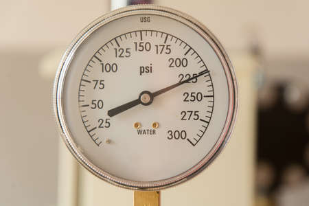 gage: Close up of pressure gage Stock Photo