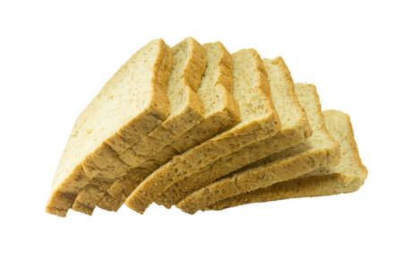 Whole wheat bread on a white background isolate